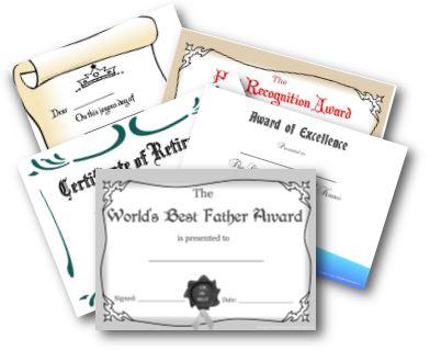 easy homemade gift ideas- awards