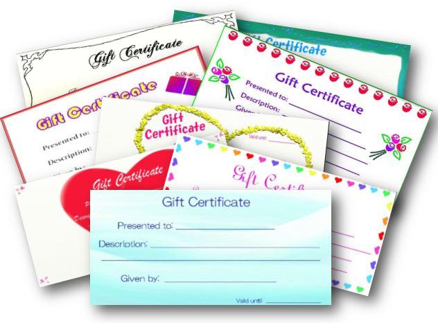 easy homemade gift ideas- gift certificates