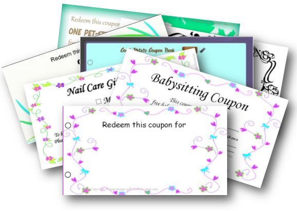 easy homemade gift ideas-coupons