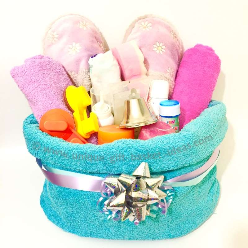 towel gift basket container
