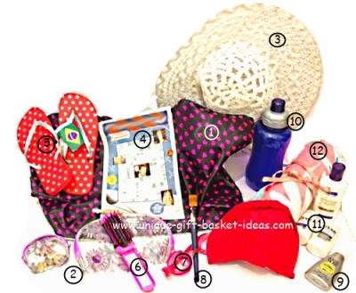 beach theme gift basket ideas