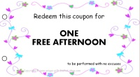 Mom coupon - free afternoon