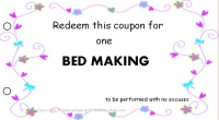 Mom coupon - bed making