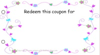 Mom coupon book - blank coupon