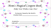 Mom coupon book- booket cover