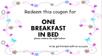 Mom coupon book-breakfast in bed