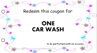 Mom coupon - car wash