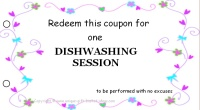 Mom coupon book - diswashing