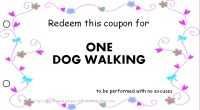 Mom coupon - dog walking