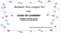 Mom coupon book - laundry