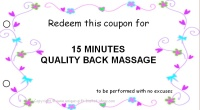 Mom coupon book - massage