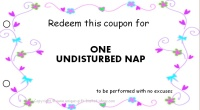 Mom coupon book - nap